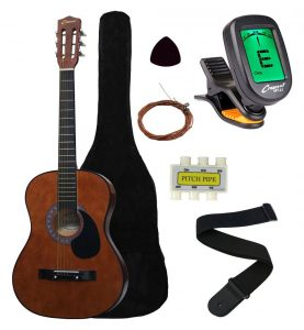 "Crescent MG38-CF 38"" Acoustic Guitar Starter Package"