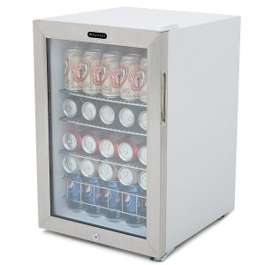 Whynter BR-091WS Beverage Refrigerator with Lock.