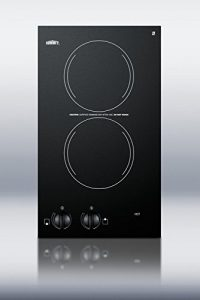 "Summit CR2110 12"" Electric Cooktop with 2 Burners Voltage"